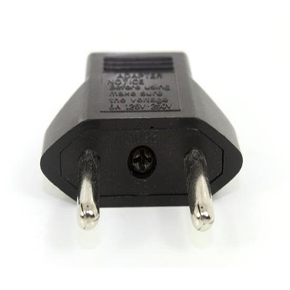 adapters Flat To Round Plug Adapter Converter For Europe - Black Flat To Round Plug Adapter Converter For Europe Black 1