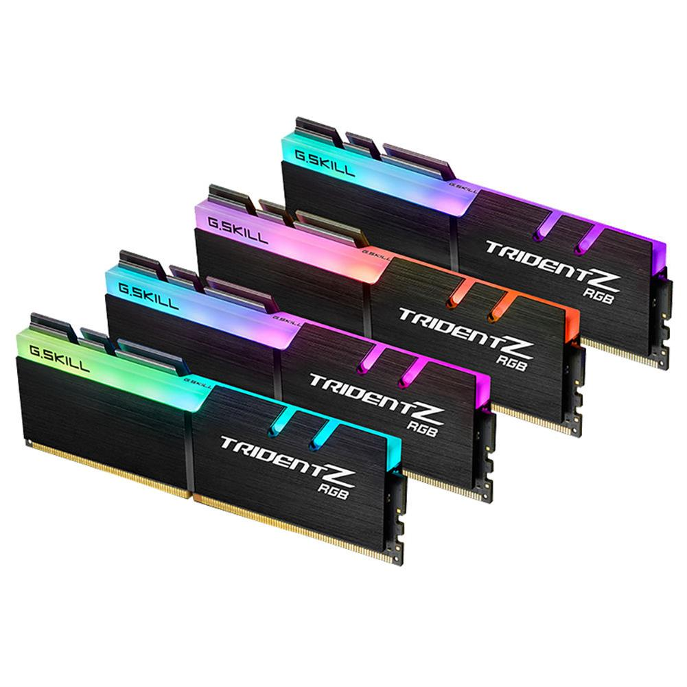 memory-modules G.SKILL TridentZ RGB Series DDR4 3200MHz 32GB (4 x 8GB) Memory Modules Kit For Desktop Computer - Black G SKILL TridentZ RGB Series DDR4 3200MHz 32GB 4 x 8GB Memory Modules Kit For Desktop Computer Black