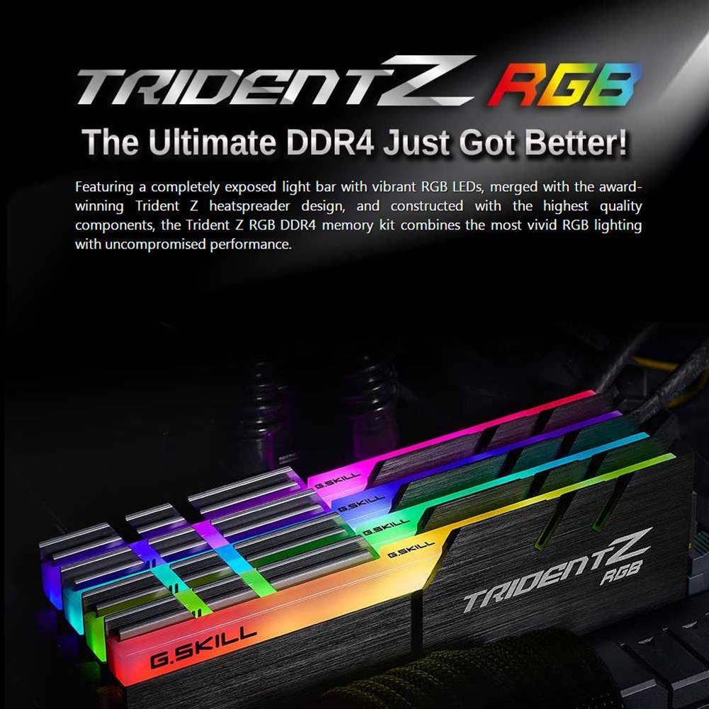 memory-modules-G.SKILL TridentZ RGB Series DDR4 3200MHz 32GB (4 x 8GB) Memory Modules Kit For Desktop Computer - Black-G SKILL TridentZ RGB Series DDR4 3200MHz 32GB 4 x 8GB Memory Modules Kit For Desktop Computer Black 3