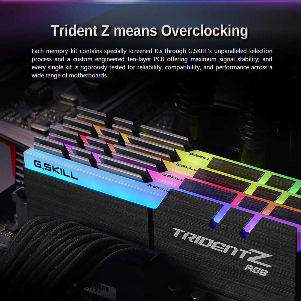 memory-modules-G.SKILL TridentZ RGB Series DDR4 3200MHz 32GB (4 x 8GB) Memory Modules Kit For Desktop Computer - Black-G SKILL TridentZ RGB Series DDR4 3200MHz 32GB 4 x 8GB Memory Modules Kit For Desktop Computer Black 4