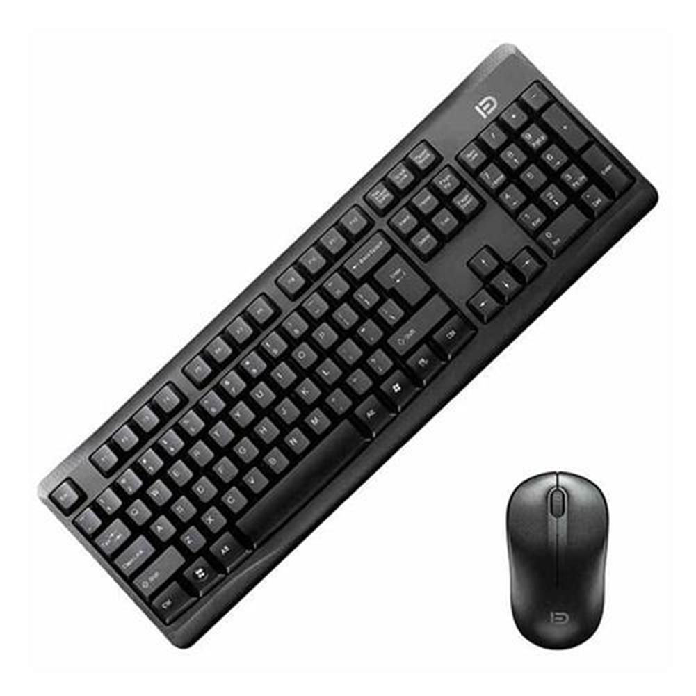 keyboard-and-mice-kit G9100C Wireless Keyboard + Mouse Kit for Desktop QWERTY 107 Keys 36 Months Standby - Black G9100C Wireless Keyboard Mouse Kit for Desktop QWERTY 107 Keys 36 Months Standby Black