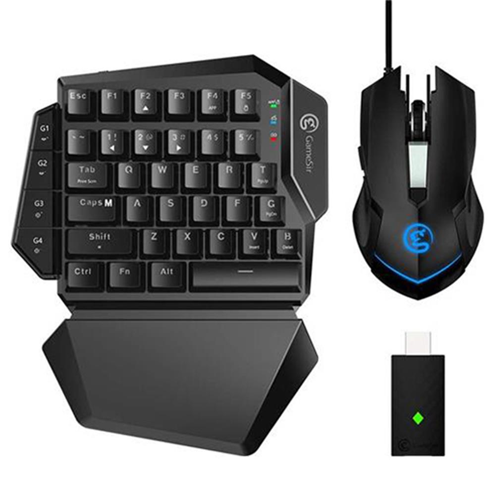 keyboard-and-mice-kit GameSir VX E-sports AimSwitch Wireless Gaming 2.4G Keyboard Mouse Combo For PS4 / PS3 / Switch / Xbox One / PC - Black GameSir VX E sports AimSwitch Wireless Gaming 2 4G Keyboard Mouse Combo For PS4 PS3 Switch Xbox One PC Black