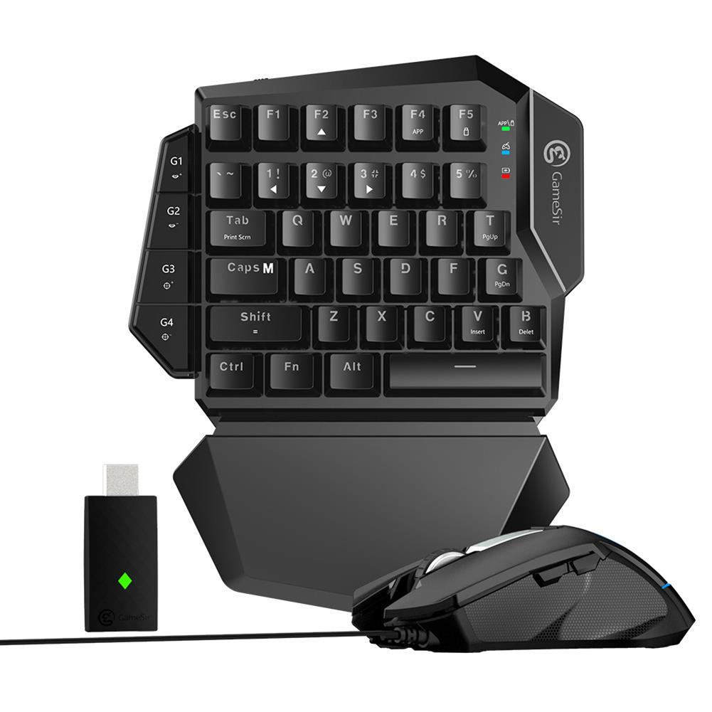 keyboard-and-mice-kit GameSir VX E-sports AimSwitch Wireless Gaming 2.4G Keyboard Mouse Combo For PS4 / PS3 / Switch / Xbox One / PC - Black GameSir VX E sports AimSwitch Wireless Gaming 2 4G Keyboard Mouse Combo For PS4 PS3 Switch Xbox One PC Black 1