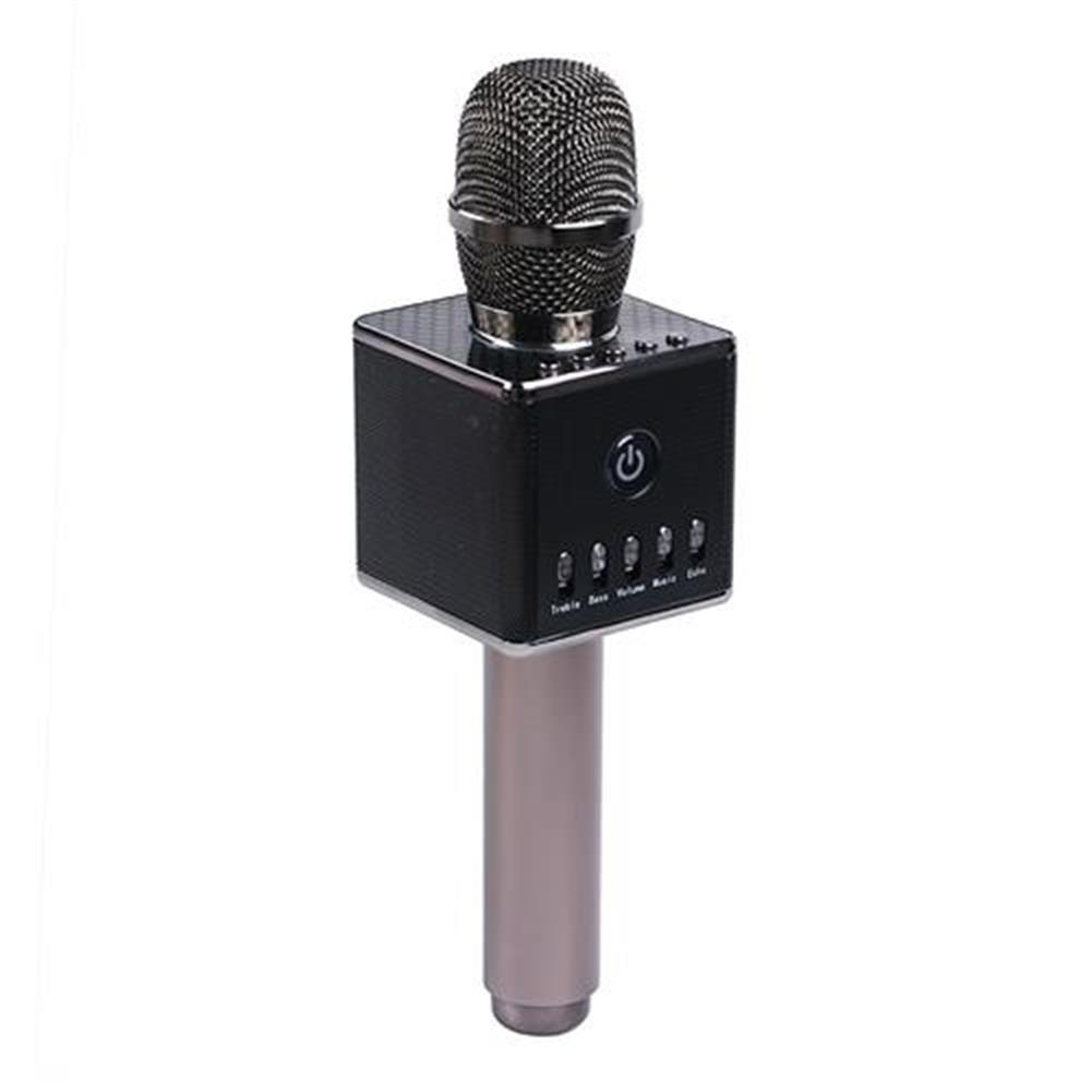 microphones-Hapow H8 Portable Wireless Microphone Removable Battery USB Interface Unique Design- Dark Gray-Hapow H8 Portable Wireless Microphone Removable Battery USB Interface Unique Design Dark Gray
