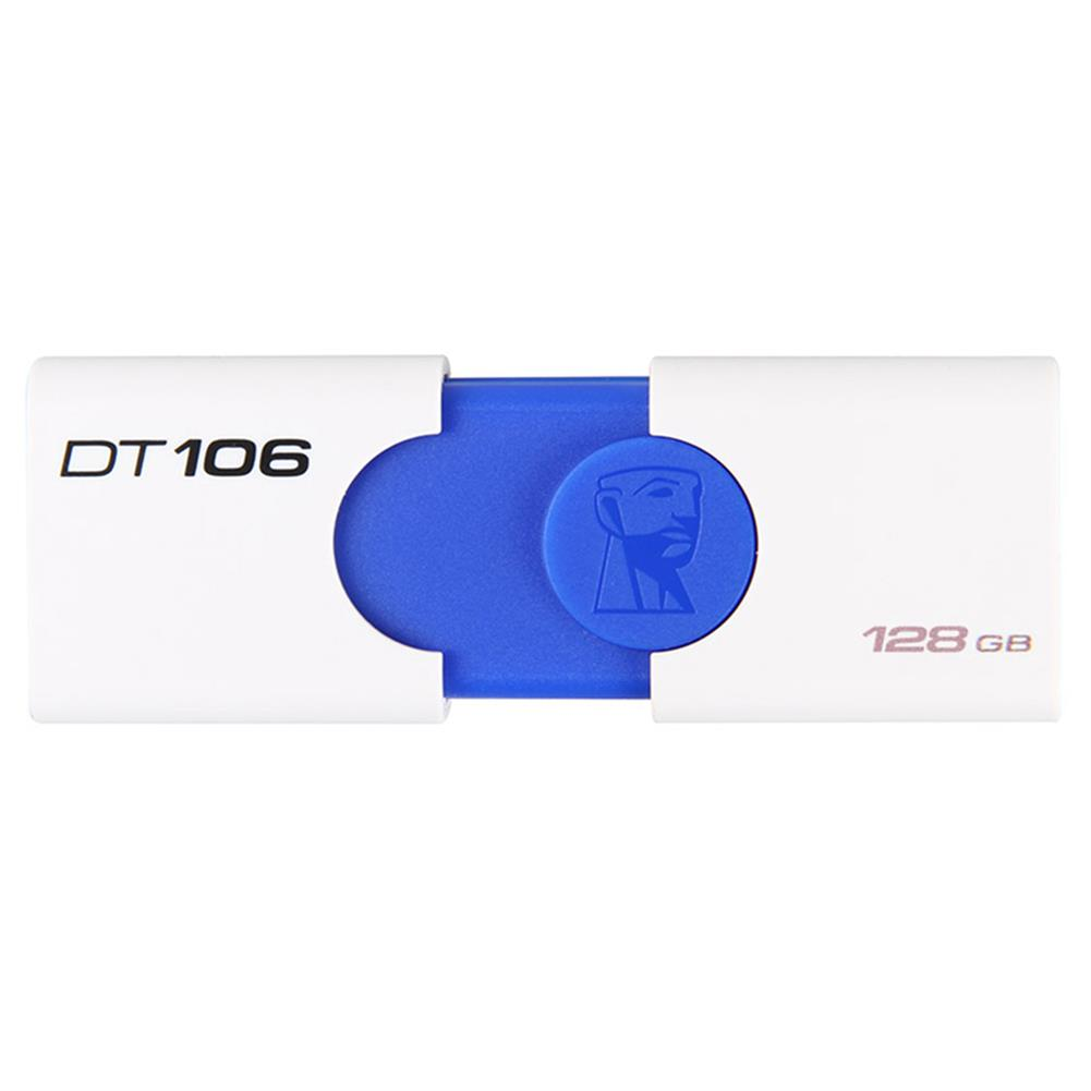usb-flash-drives-Kingston DT106 128GB USB Flash Drive USB3.1 Interface Read Speed 130MB/s - White + Blue-Kingston DT106 128GB USB Flash Drive USB3 1 Interface Read Speed 130MB s White Blue