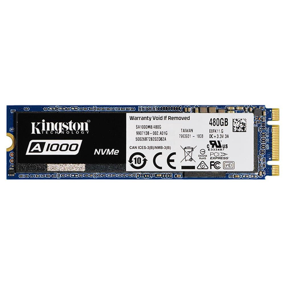 storage Kingston Digital A1000 480GB PCIe NVMe M.2 2280 Internal SSD High Performance Solid State Drive - Blue Kingston Digital A1000 480GB PCIe NVMe M 2 2280 Internal SSD High Performance Solid State Drive Blue