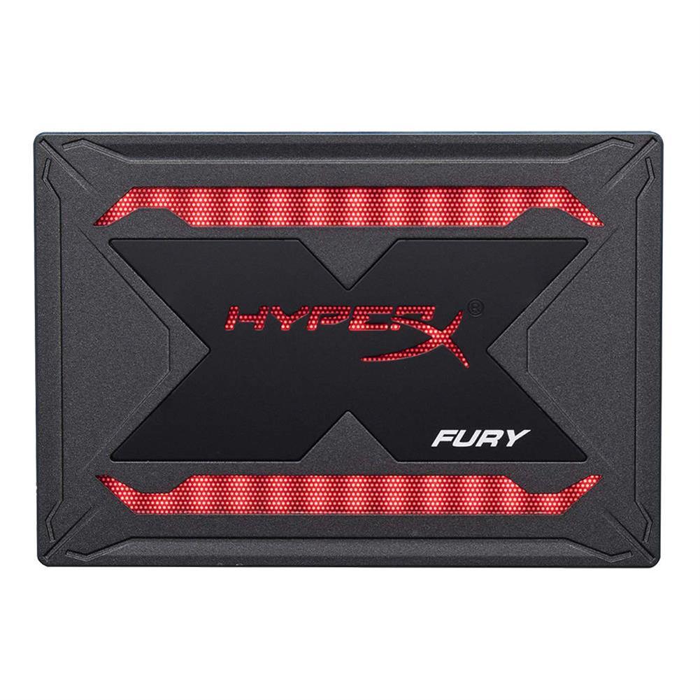 storage Kingston HyperX Fury RGB SHFR200 960GB SSD Solid SATA Drive 2.5 Inch SATA 3 Interface With Dynamic RGB Effects - Black Kingston HyperX Fury RGB SHFR200 960GB SSD Solid SATA Drive 2 5 Inch SATA 3 Interface With Dynamic RGB Effects Black 1