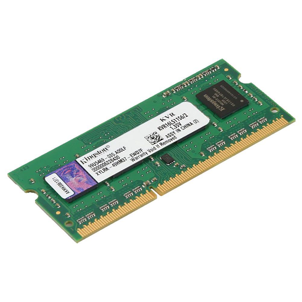 memory Kingston KVR16LS6/2 DDR3 1600MHz 2GB ValueRAM UDIMM Memory Module For Laptop Low Voltage Version - Green Kingston KVR16LS6 2 DDR3 1600MHz 2GB ValueRAM UDIMM Memory Module For Laptop Low Voltage Version Green 1