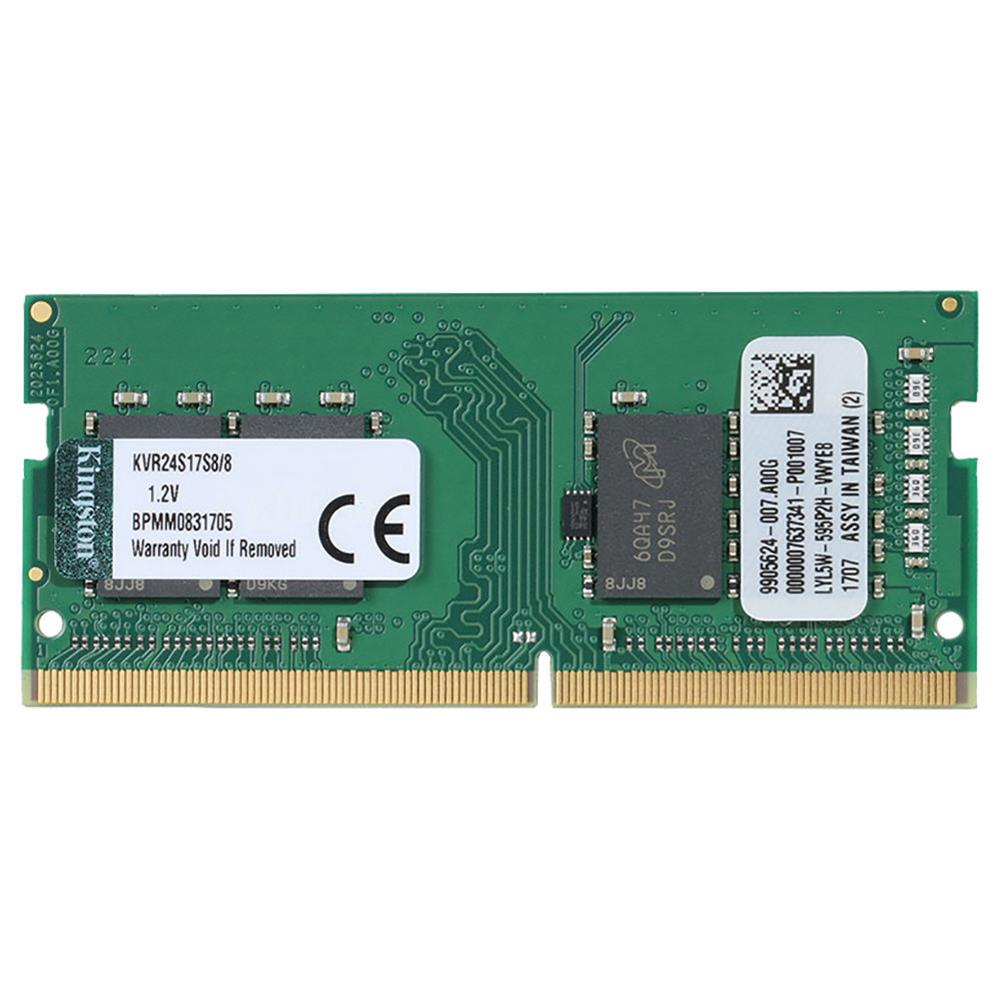memory Kingston KVR24S17S8/8 DDR4 2400Mhz 8GB ValueRAM Non-ECC SODIMM Memory Module For Laptop - Green Kingston KVR24S17S8 8 DDR4 2400Mhz 8GB ValueRAM Non ECC SODIMM Memory Module For Laptop Green 1