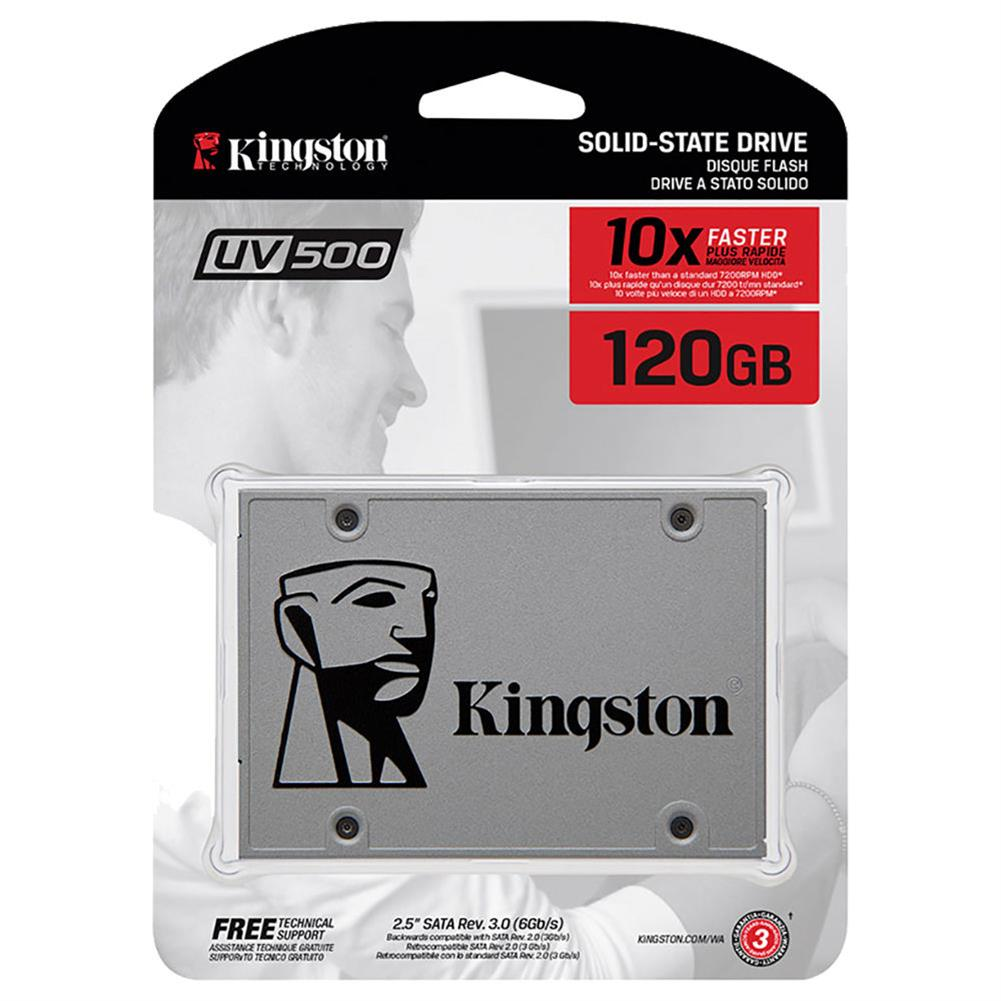 ssd-hdd-enclosures-Kingston SUV500 120GB SSD 2.5 Inch Solid State Drive SATA Rev. 3.0 (6Gb/s) Interface Read Speed 520Mb/s - Gray-Kingston SUV500 120GB SSD 2 5 Inch Solid State Drive SATA Rev 3 0 6Gb s Interface Read Speed 520Mb s Gray 4