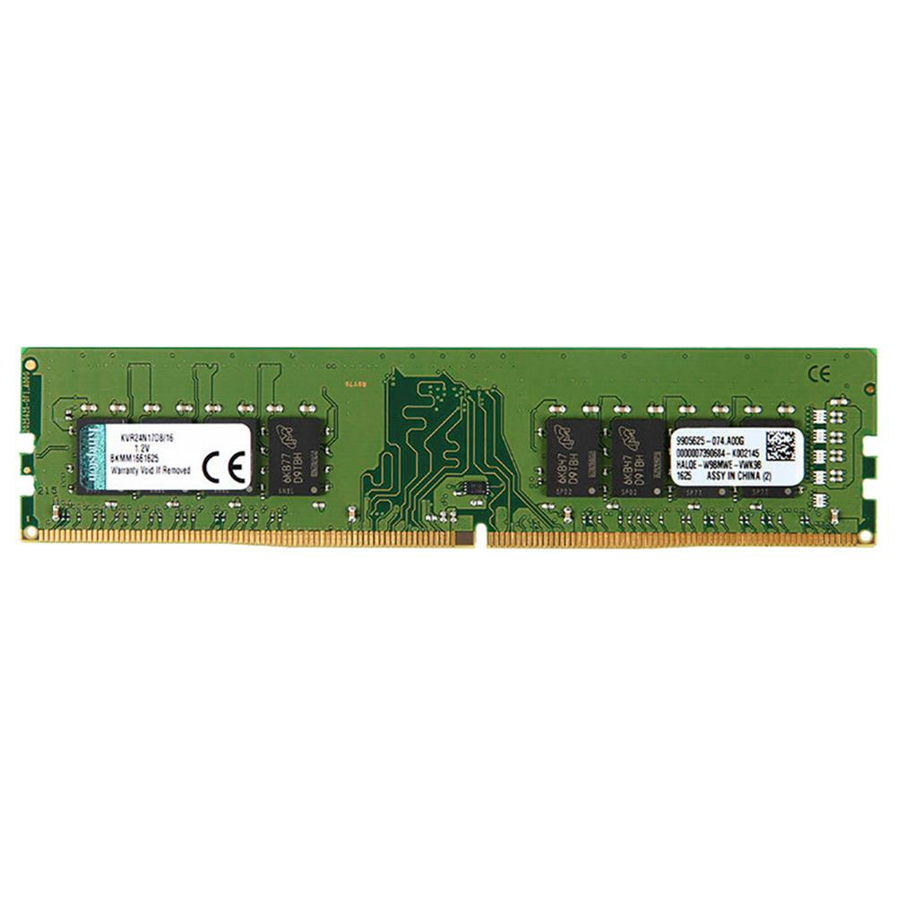 memory-modules Kingston ValueRAM KVR24N17S8/16 DDR4 2400MHz 16GB Desktop Motherboard Memory Module - Green Kingston ValueRAM KVR24N17S8 16 DDR4 2400MHz 16GB Desktop Motherboard Memory Module Green