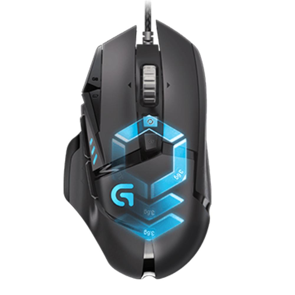 wired-mouse Logitech G502 Proteus Spectrum Wired Adaptive Gaming Mouse 12000DPI USB Computer Mouse For PC / Laptop - Black Logitech G502 Proteus Spectrum Wired Adaptive Gaming Mouse 12000DPI USB Computer Mouse For PC Laptop Black 1