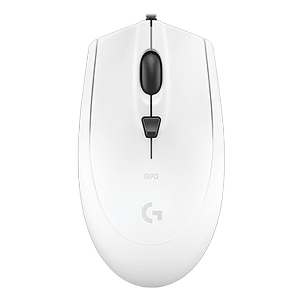 wired-mouse-Logitech G90 Wired Optical Gaming Mouse 2500DPI Lightning Speed Operation For PC / Laptop - White-Logitech G90 Wired Optical Gaming Mouse 2500DPI Lightning Speed Operation For PC Laptop White