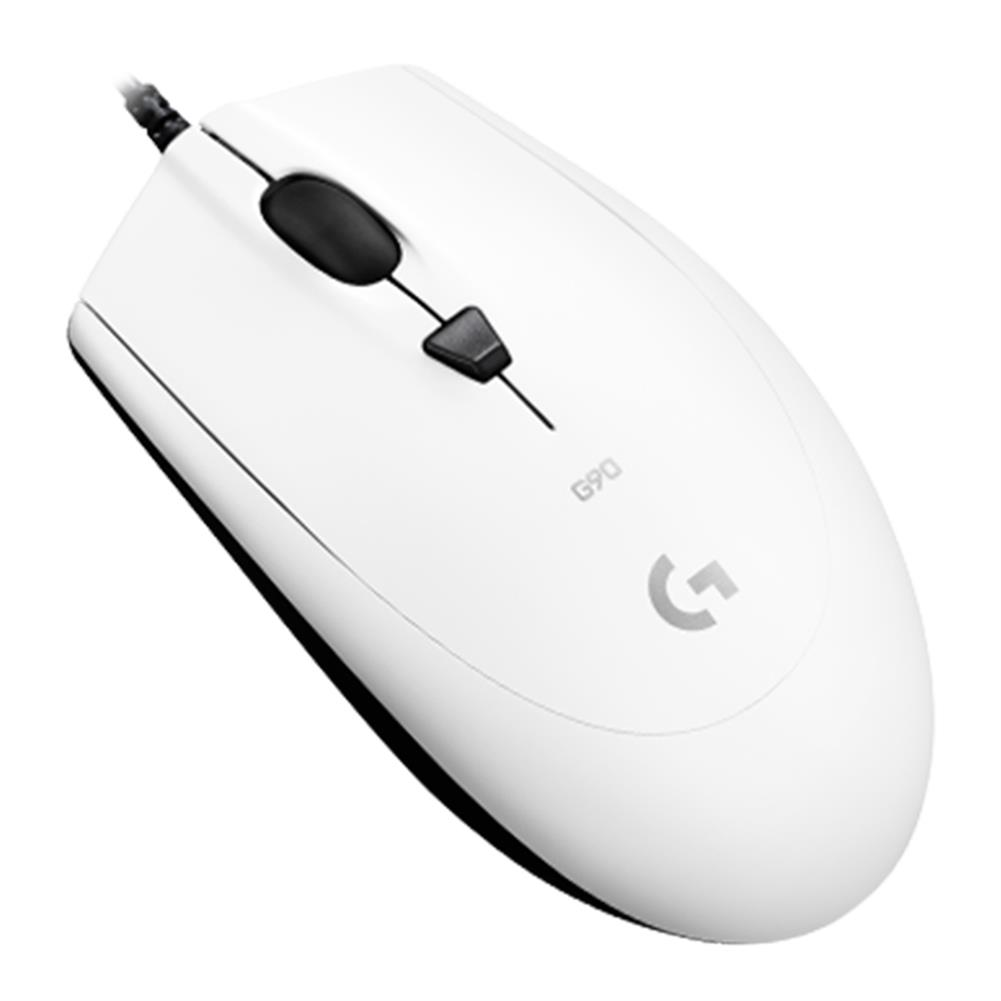 wired-mouse Logitech G90 Wired Optical Gaming Mouse 2500DPI Lightning Speed Operation For PC / Laptop - White Logitech G90 Wired Optical Gaming Mouse 2500DPI Lightning Speed Operation For PC Laptop White 1