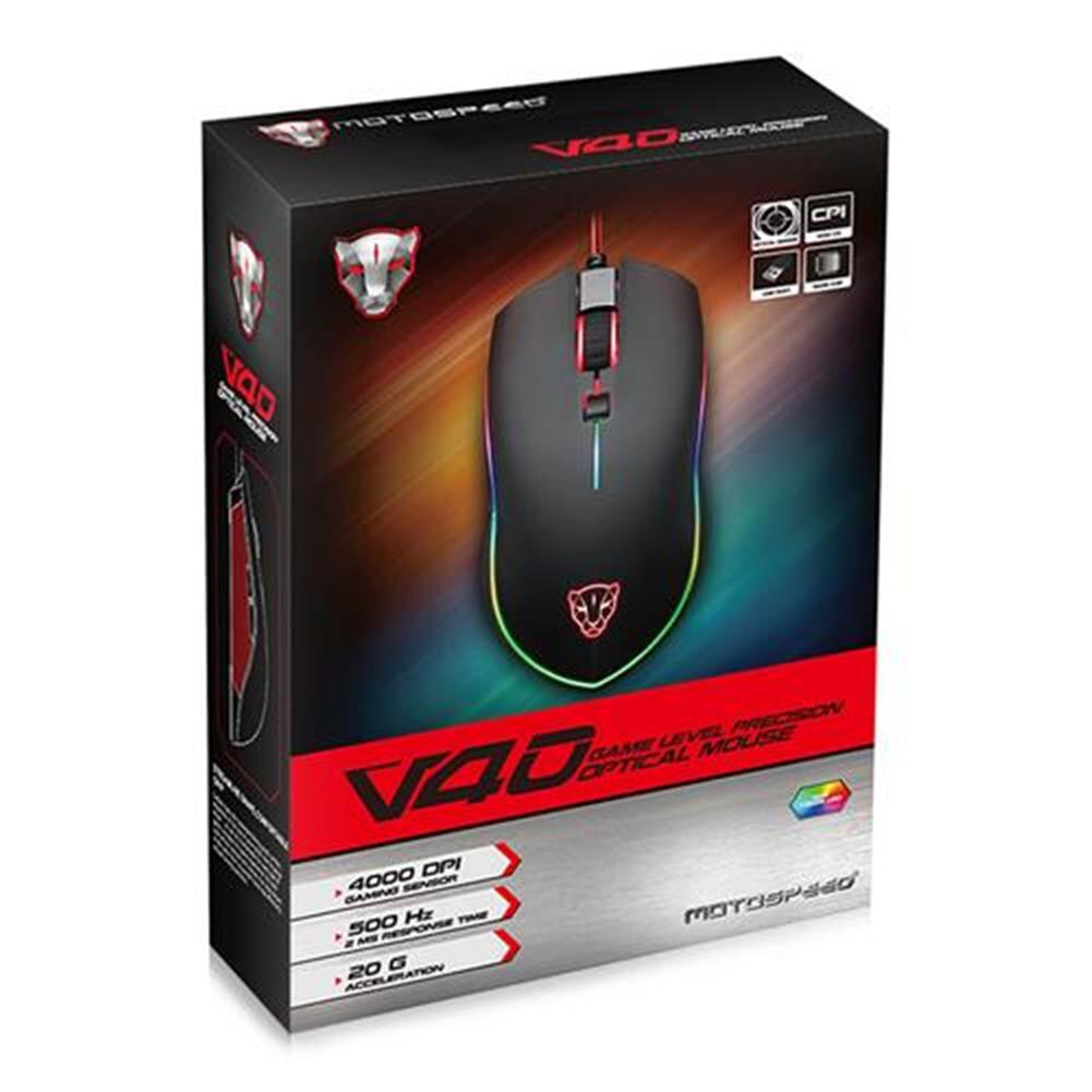 wired-mouse Motospeed V30 3500DPI LED Optical Backlit Wired Gaming Mouse -  Black Motospeed V30 3500DPI LED Optical Backlit Wired Gaming Mouse Black 4