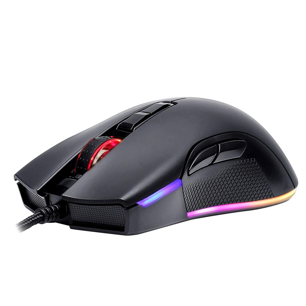 wired-mouse-Motospeed V70 PMW3325 3500DPI 7 Buttons RGB Lighting Mode Optical Wired Gaming Mouse For Laptops Desktops - Black-Motospeed V70 PMW3325 3500DPI 7 Buttons RGB Lighting Mode Optical Wired Gaming Mouse For Laptops Desktops Black