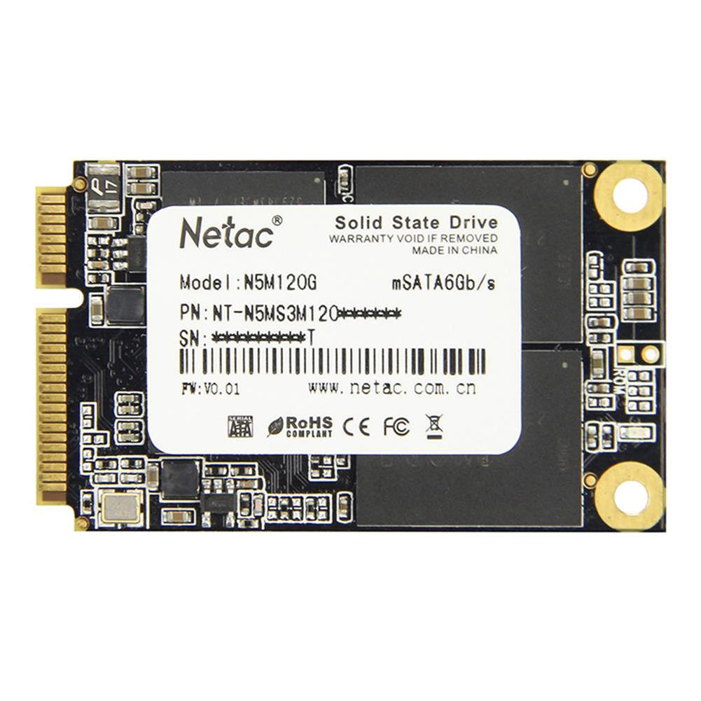 ssd-hdd-enclosures-Netac N5M 120GB mSATA 6Gb/s Interface SSD Internal Solid State Drive Reading Speed 500MB/s - Black-Netac N5M 120GB mSATA 6Gb s Interface SSD Internal Solid State Drive Reading Speed 500MB s Black 1