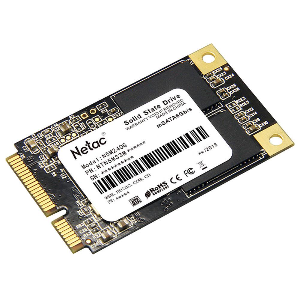 ssd-hdd-enclosures-Netac N5M 240GB mSATA 6Gb/s Interface SSD Internal Solid State Drive Reading Speed 500MB/s - Black-Netac N5M 240GB mSATA 6Gb s Interface SSD Internal Solid State Drive Reading Speed 500MB s Black