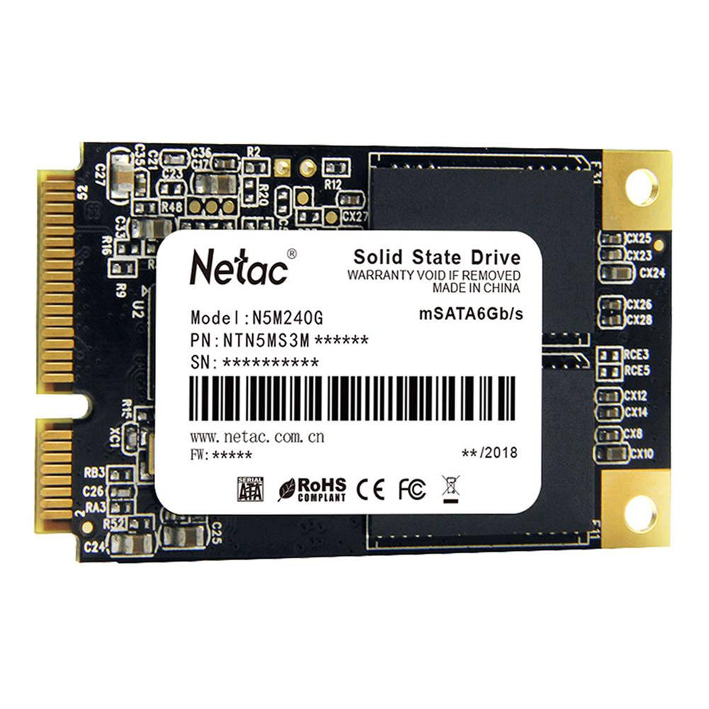 ssd-hdd-enclosures-Netac N5M 240GB mSATA 6Gb/s Interface SSD Internal Solid State Drive Reading Speed 500MB/s - Black-Netac N5M 240GB mSATA 6Gb s Interface SSD Internal Solid State Drive Reading Speed 500MB s Black 1