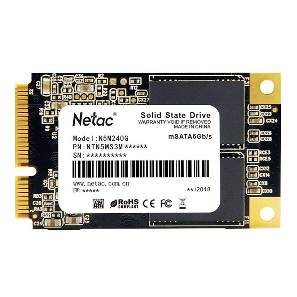 ssd-hdd-enclosures-Netac N5M 240GB mSATA 6Gb/s Interface SSD Internal Solid State Drive Reading Speed 500MB/s - Black-Netac N5M 240GB mSATA 6Gb s Interface SSD Internal Solid State Drive Reading Speed 500MB s Black 3