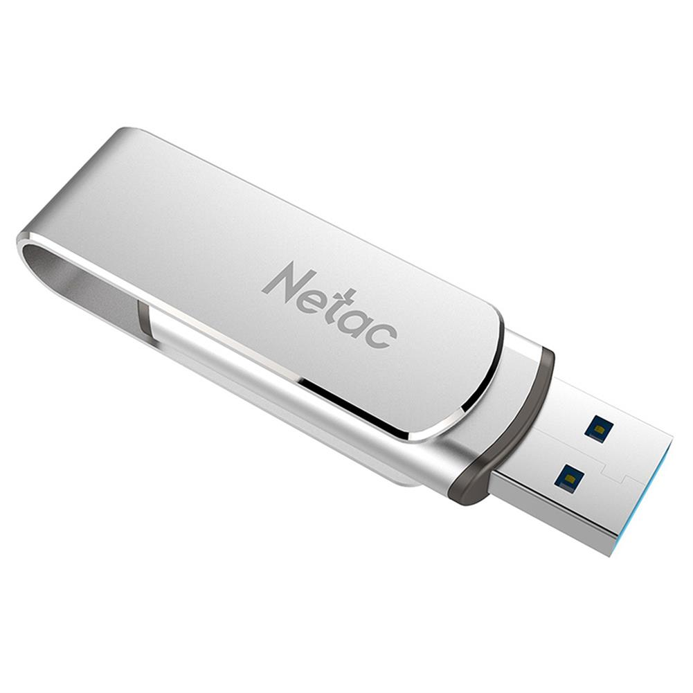 usb-flash-drives Netac U388 Rotary Metal 32GB USB Flash Drive USB3.0 Interface - Silver Netac U388 Rotary Metal 32GB USB Flash Drive USB3 0 Interface Silver