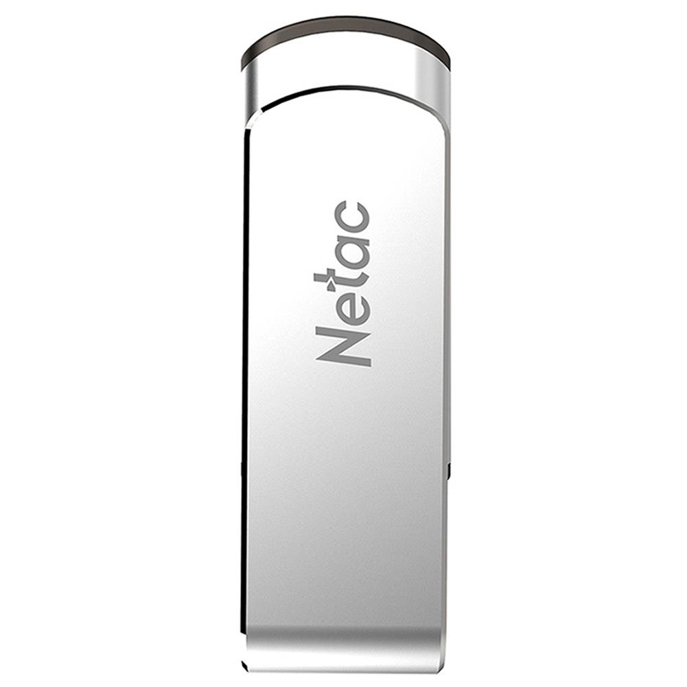 usb-flash-drives Netac U388 Rotary Metal 32GB USB Flash Drive USB3.0 Interface - Silver Netac U388 Rotary Metal 32GB USB Flash Drive USB3 0 Interface Silver 1