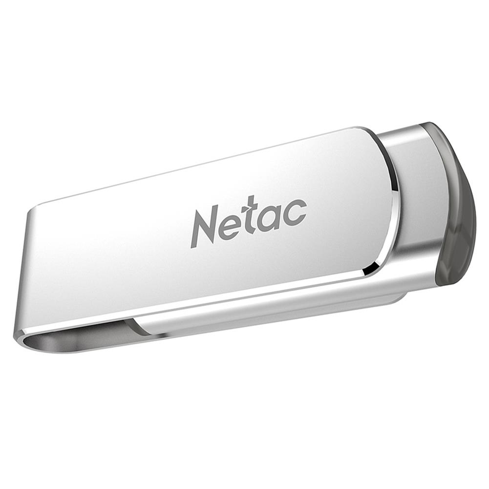 usb-flash-drives Netac U388 Rotary Metal 32GB USB Flash Drive USB3.0 Interface - Silver Netac U388 Rotary Metal 32GB USB Flash Drive USB3 0 Interface Silver 2