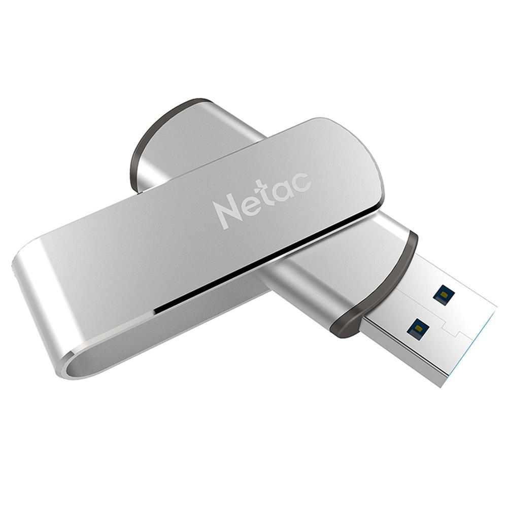 usb-flash-drives Netac U388 Rotary Metal 32GB USB Flash Drive USB3.0 Interface - Silver Netac U388 Rotary Metal 32GB USB Flash Drive USB3 0 Interface Silver 3