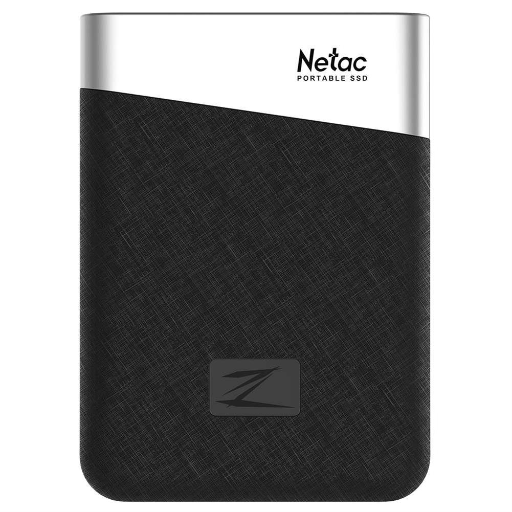 ssd-hdd-enclosures-Netac Z6 Portable External 480GB SSD Type-c USB3.1 Solid State Drive 400MB/s Transmission Speed - Black-Netac Z6 Portable External 480GB SSD Type c USB3 1 Solid State Drive 400MB s Transmission Speed Black