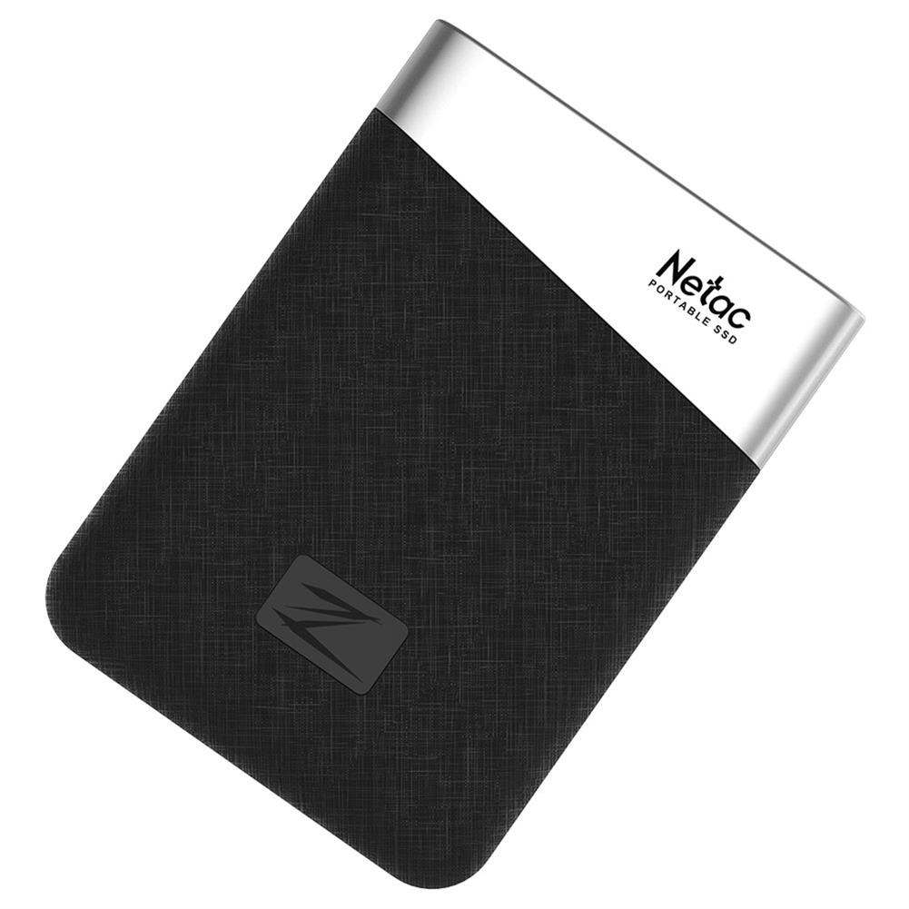 ssd-hdd-enclosures-Netac Z6 Portable External 480GB SSD Type-c USB3.1 Solid State Drive 400MB/s Transmission Speed - Black-Netac Z6 Portable External 480GB SSD Type c USB3 1 Solid State Drive 400MB s Transmission Speed Black 1
