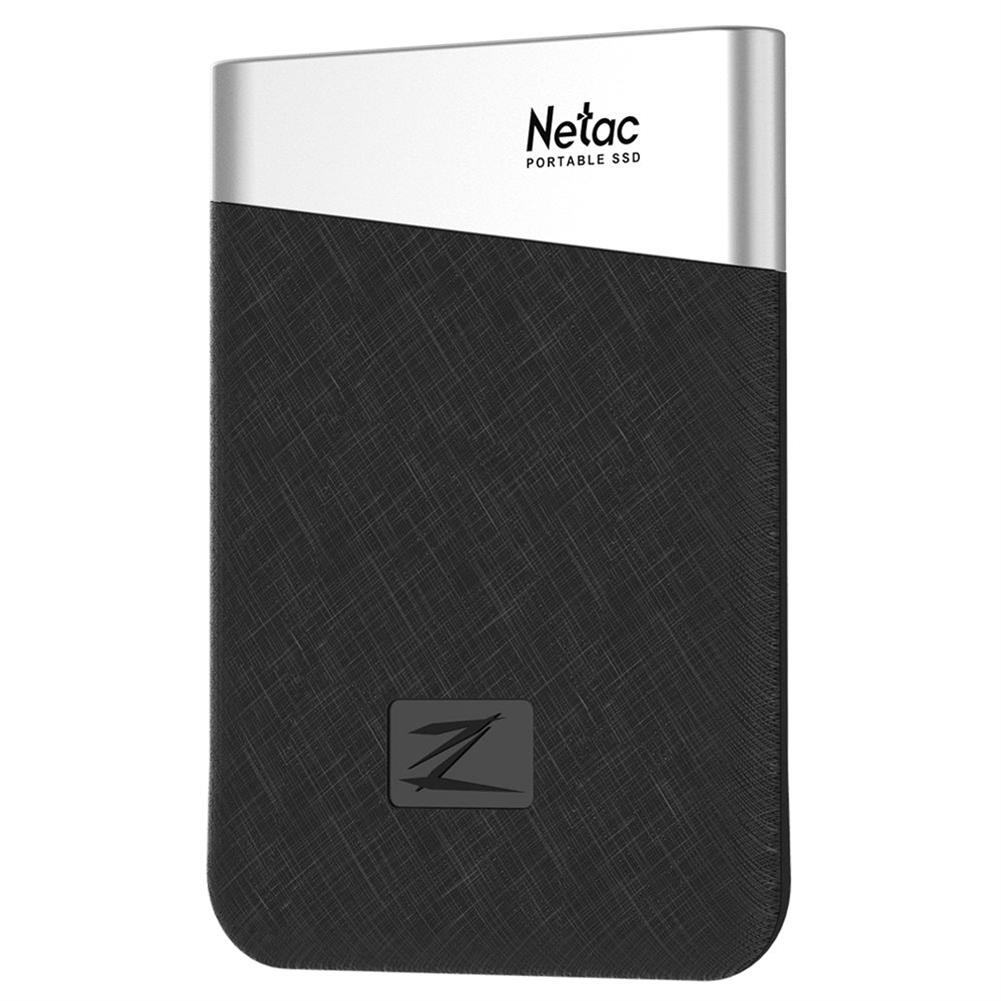 ssd-hdd-enclosures-Netac Z6 Portable External 480GB SSD Type-c USB3.1 Solid State Drive 400MB/s Transmission Speed - Black-Netac Z6 Portable External 480GB SSD Type c USB3 1 Solid State Drive 400MB s Transmission Speed Black 5