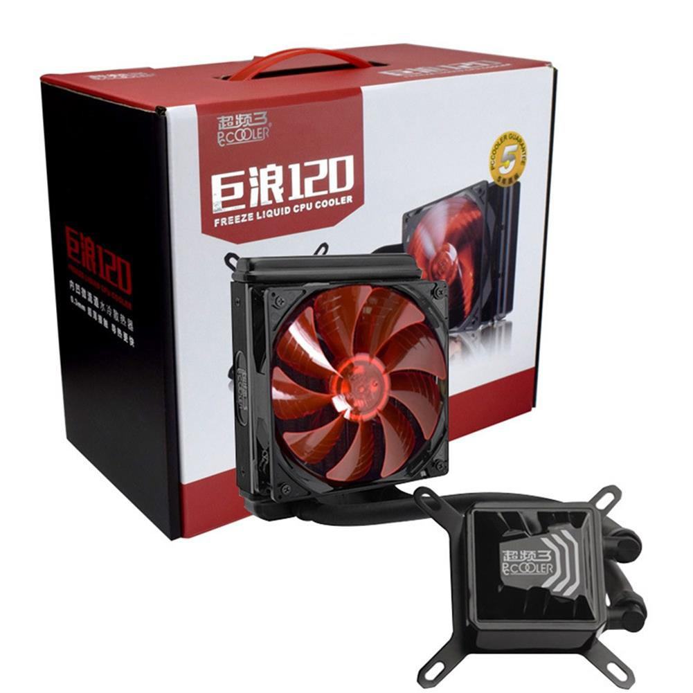 fan-cooling Pccooler Billow 120 CPU Water Cooling Fan Temperature Controller With LED Red Light 120mm Fan - Red + Black Pccooler Billow 120 CPU Water Cooling Fan Temperature Controller With LED Red Light 120mm Fan Red Black 6