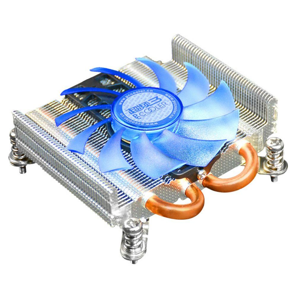 fan-cooling-Pccooler S85 Ultra-thin Cooling Fan 4 Pin PWM 2 Heat Pipes For HTPC Mini Case For Intel 775/1155/1156 CPU - Silver-Pccooler S85 Ultra thin Cooling Fan 4 Pin PWM 2 Heat Pipes For HTPC Mini Case For Intel 775 1155 1156 CPU Silver