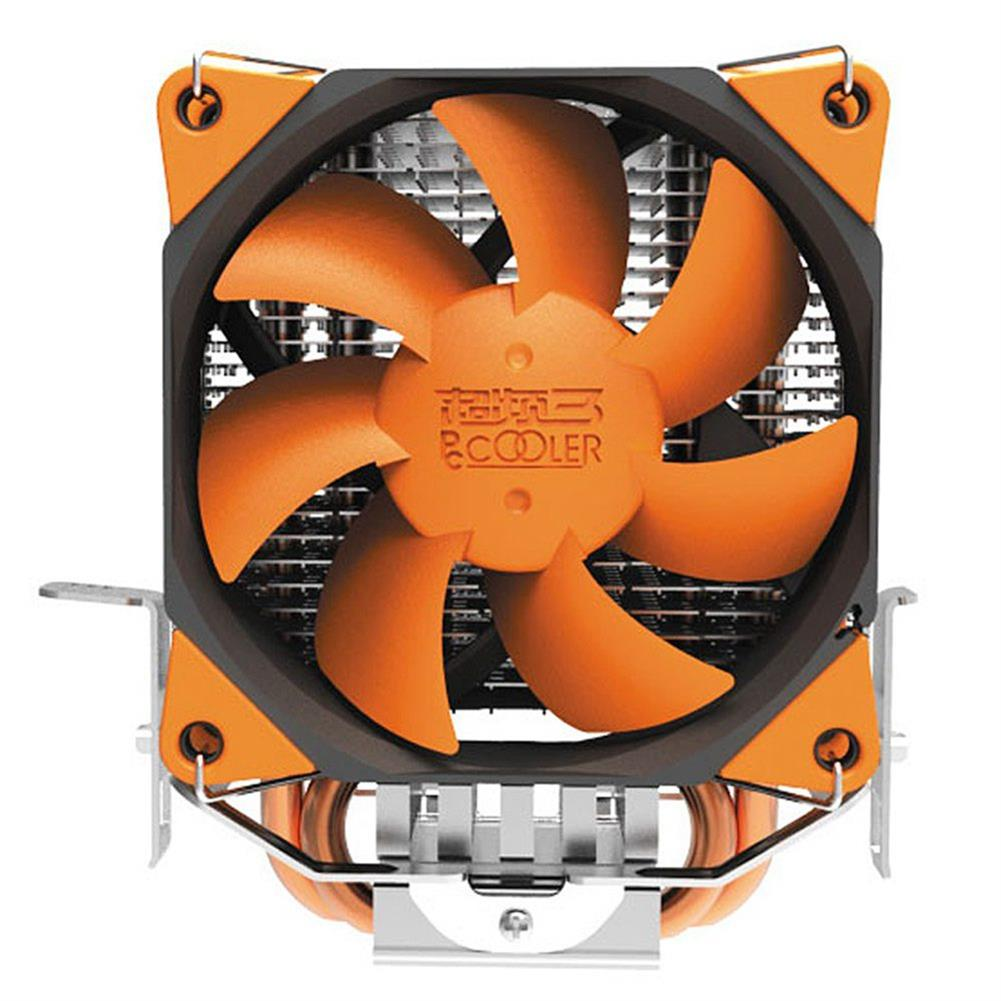 fan-cooling-Pccooler S88 CPU Cooler Fan With 2 Heat Pipes 4 Pin 8cm PWM Mute Fan Cooling Computer PC For AMD Intel - Yellow-Pccooler S88 CPU Cooler Fan With 2 Heat Pipes 4 Pin 8cm PWM Mute Fan Cooling Computer PC For AMD Intel Yellow