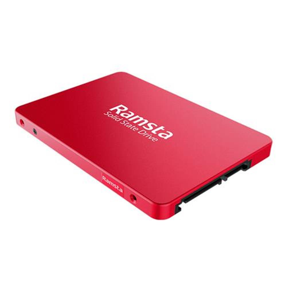 ssd-hdd-enclosures-Ramsta S800 1TB SATA3 High Speed SSD 2.5 Inch Solid State Drive Hard Disk Sequential Read 525MB/s - Red-Ramsta S800 1TB SATA3 High Speed SSD 2 5 Inch Solid State Drive Hard Disk Sequential Read 525MB s Red