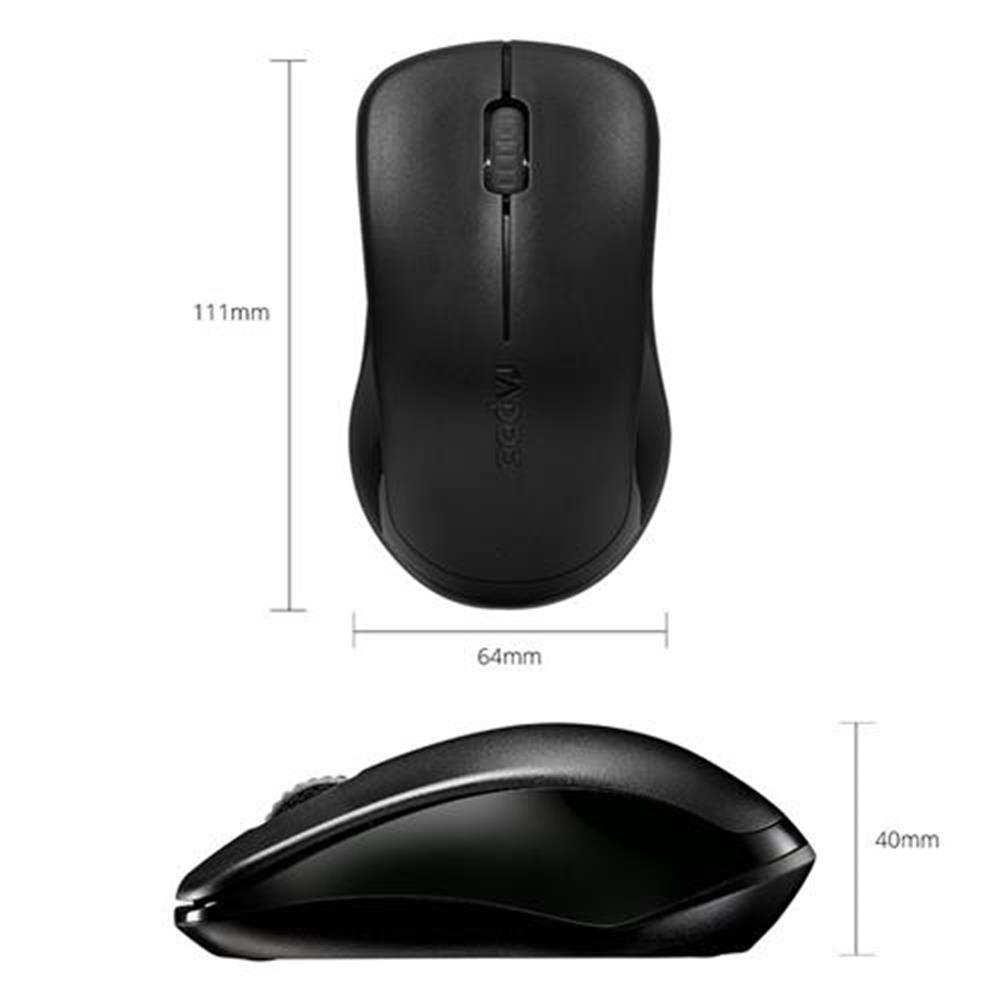 wireless-mouse-Rapoo 1620 2.4G Wireless Optical Mouse 1000DPI For Notebook Laptop - Black-Rapoo 1620 2 4G Wireless Optical Mouse 1000DPI For Notebook Laptop Black 2