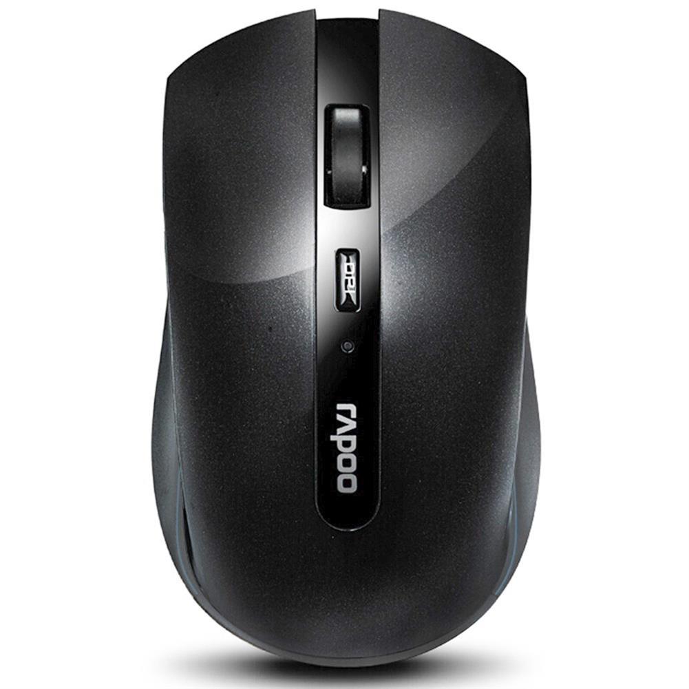wireless-mouse-Rapoo 7200P 2.4G Wireless Optical Mouse 500/1000 DPI With Nano Port Small Size - Black-Rapoo 7200P 2 4G Wireless Optical Mouse 500 1000 DPI With Nano Port Small Size Black