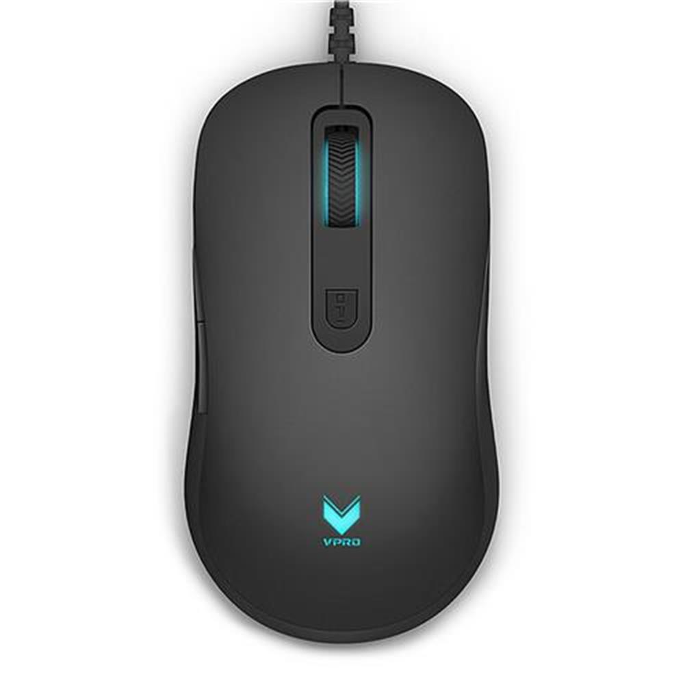 wired-mouse Rapoo V22 A3050 Wired Gaming Mouse RGB Backlight 8 DPI Modes 7 Programmable Buttons With Sided Buttons - Black Rapoo V22 A3050 Wired Gaming Mouse RGB Backlight 8 DPI Modes 7 Programmable Buttons With Sided Buttons Black