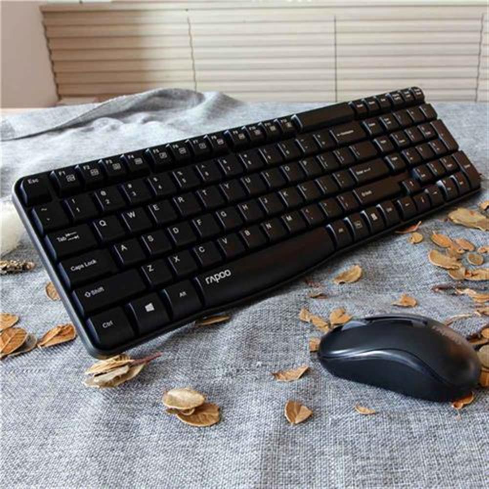 keyboard-and-mice-kit Rapoo X1800S Wireless Keyboard & Mouse Combo Optical 2.4G 108 Keys 1000 DPI 10M Transmision Fn Keys - Black Rapoo X1800S Wireless Keyboard amp Mouse Combo Optical 2 4G 108 Keys 1000 DPI 10M Transmision Fn Keys Black 1