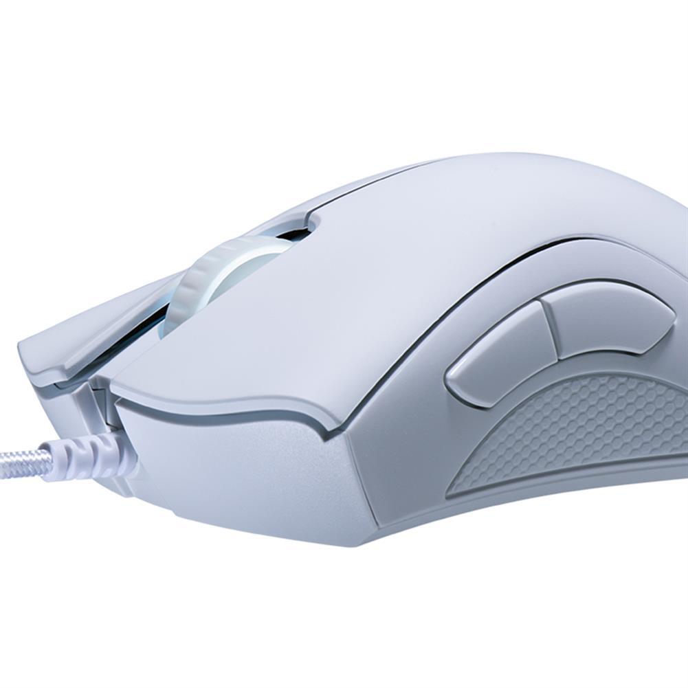 wired-mouse Razer DeathAdder Essential Optical Professional Grade Gaming Mouse Ergonomic Right-handed Design 6400 Adjustable DPI - White Razer DeathAdder Essential Optical Professional Grade Gaming Mouse Ergonomic Right handed Design 6400 Adjustable DPI White 1