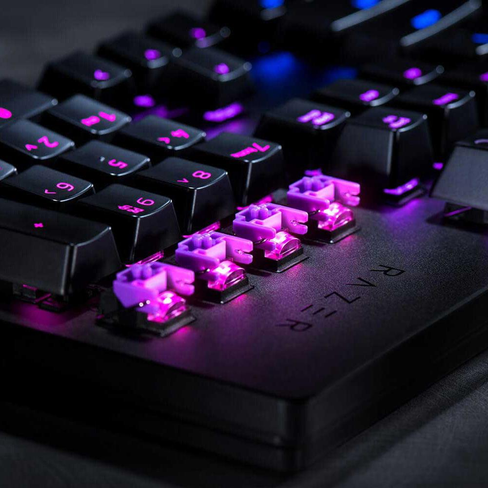 wired-keyboards Razer Huntsman Wired Gaming Keyboard RGB Backlight Opto-Mechanical Switches Key Stabilizer Bar - Black Razer Huntsman Wired Gaming Keyboard RGB Backlight Opto Mechanical Switches Key Stabilizer Bar Black 5