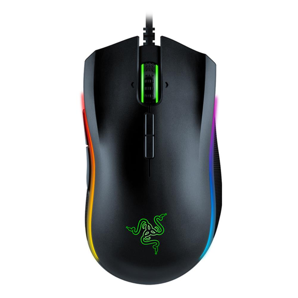 wired-mouse Razer Mamba Elite Right-Handed Gaming Mouse 5G Advanced Optical Sensor 16000DPI RGB Backlight With 9 Independent Programmable Buttons - Black Razer Mamba Elite Right Handed Gaming Mouse 5G Advanced Optical Sensor 16000DPI RGB Backlight With 9 Independent Programmable Buttons Black