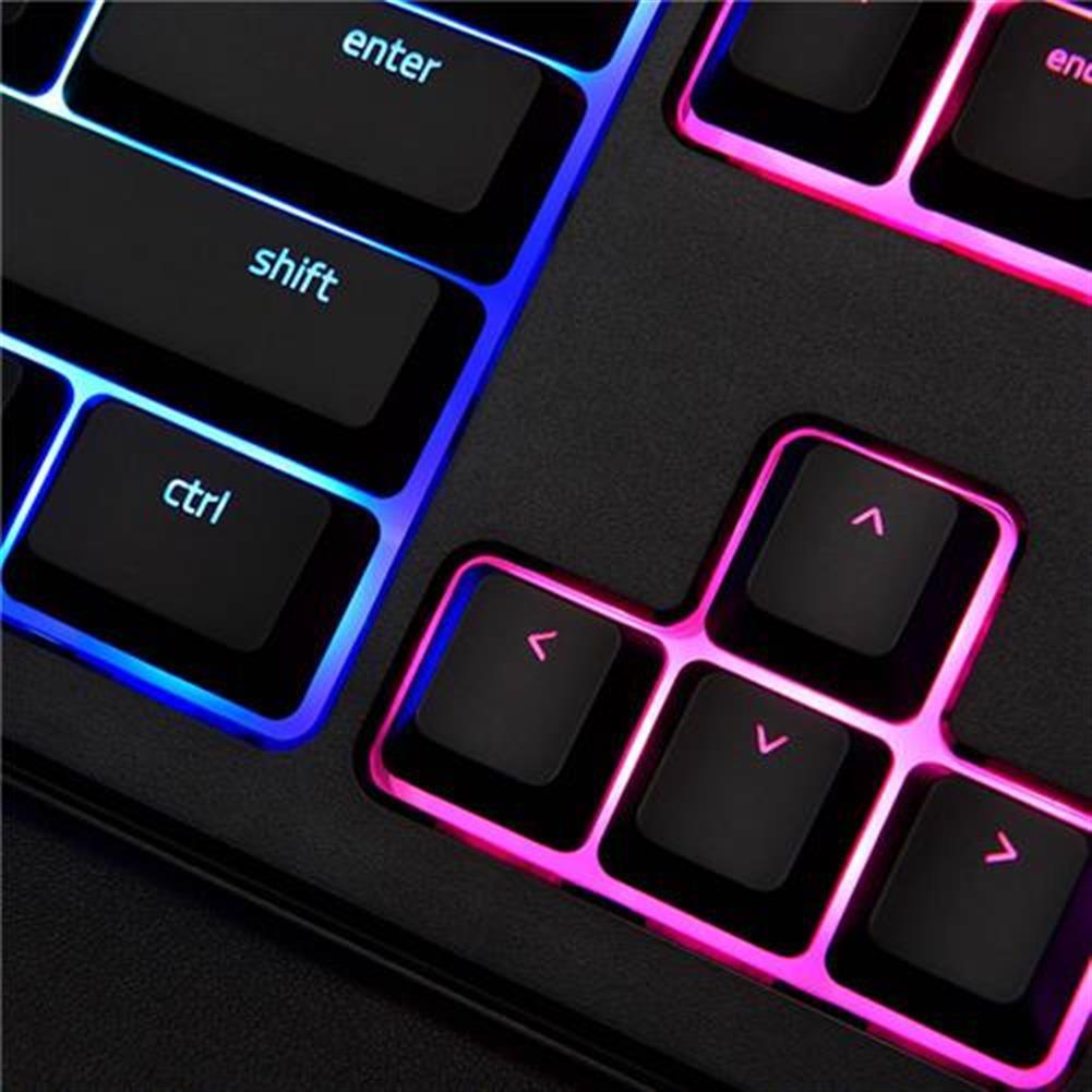 wired-keyboards Razer Ornata Chroma Wired Membrane RGB Gaming Keyboard With Individually Backlit Keys Mid-Height Keycaps Wrist - Black Razer Ornata Chroma Wired Membrane RGB Gaming Keyboard With Individually Backlit Keys Mid Height Keycaps Wrist Black 9