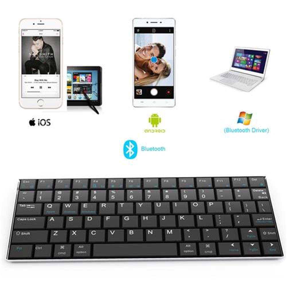wireless-keyboards Rii Mini i9 Bluetooth Keyboard for iPad iPhone Android MID Metal - Black Rii Mini i9 Bluetooth Keyboard for iPad iPhone Android MID Metal Black