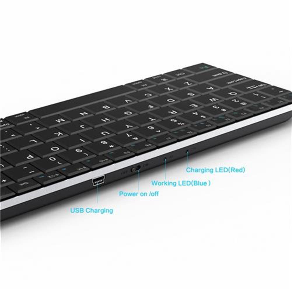 wireless-keyboards Rii Mini i9 Bluetooth Keyboard for iPad iPhone Android MID Metal - Black Rii Mini i9 Bluetooth Keyboard for iPad iPhone Android MID Metal Black 1