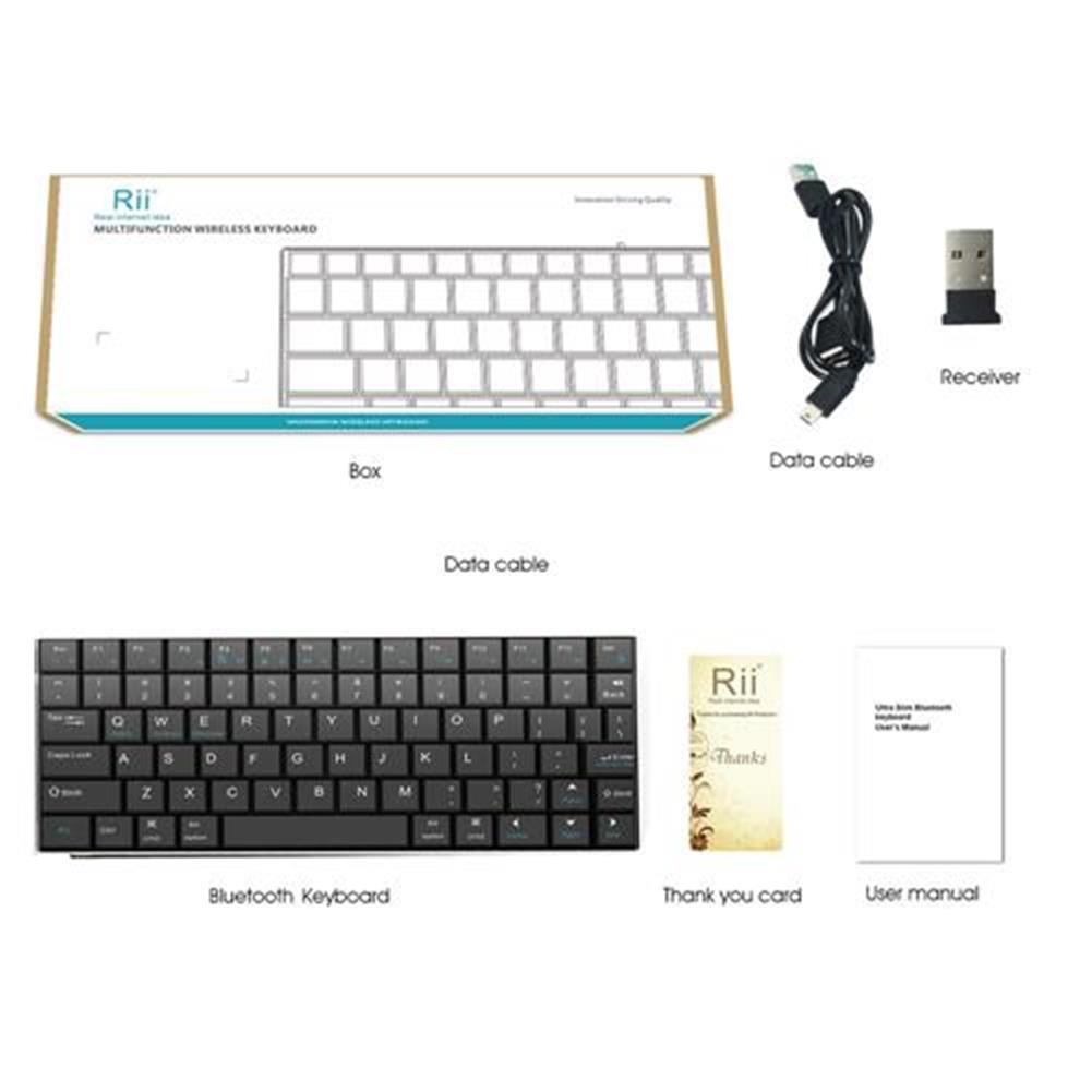 wireless-keyboards Rii Mini i9 Bluetooth Keyboard for iPad iPhone Android MID Metal - Black Rii Mini i9 Bluetooth Keyboard for iPad iPhone Android MID Metal Black 5