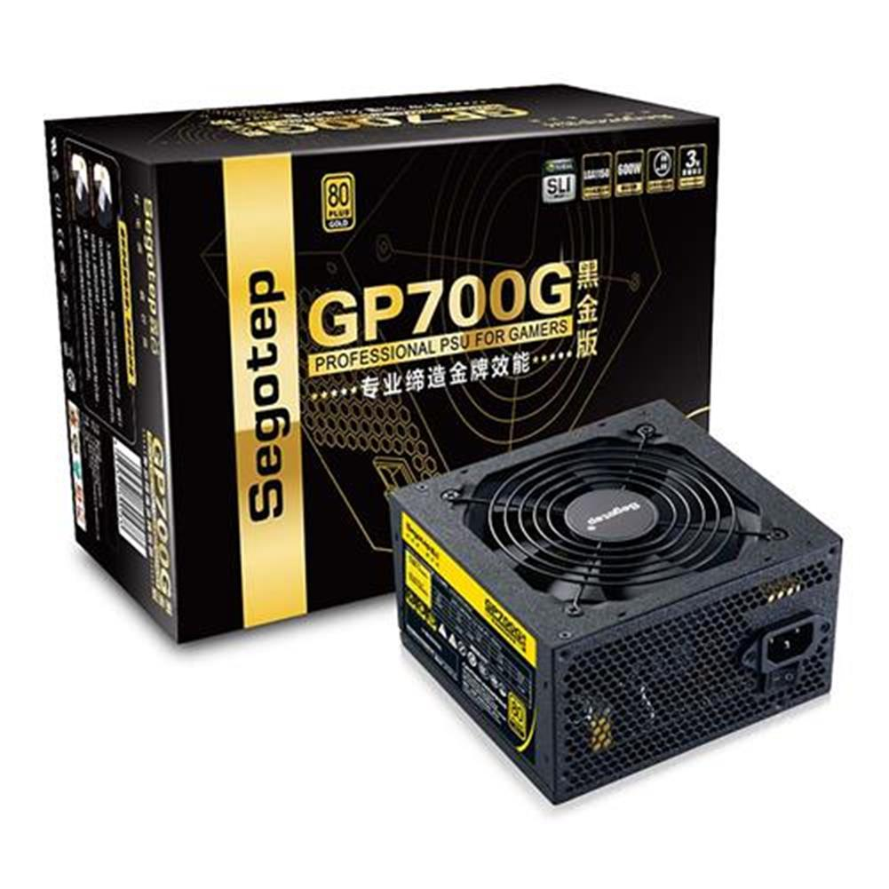 pc-power-supplies Segotep GP700G Gold Version 600W Power Supply With Fan 80 Plus Gold Electric Source - Black Segotep GP700G Gold Version 600W Power Supply With Fan 80 Plus Gold Electric Source Black
