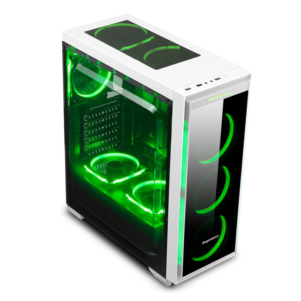 computer-cases Segotep HALO 6 PLUS Computer Case PC USB 3.0 Mainframe Support E-ATX / M-ATX / ITX With 7 Card Slots - White Segotep HALO 6 PLUS Computer Case PC USB 3 0 Mainframe Support E ATX M ATX ITX With 7 Card Slots White 2