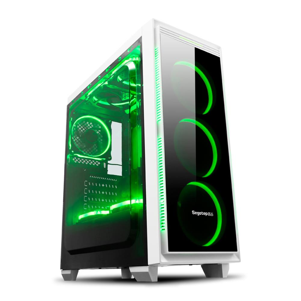 computer-cases Segotep HALO 6 PLUS Computer Case PC USB 3.0 Mainframe Support E-ATX / M-ATX / ITX With 7 Card Slots - White Segotep HALO 6 PLUS Computer Case PC USB 3 0 Mainframe Support E ATX M ATX ITX With 7 Card Slots White 4