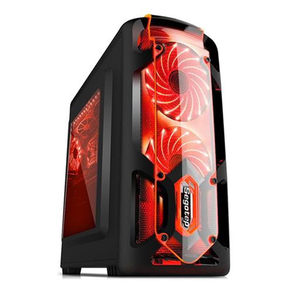-Best Seller-Segotep RGB Full Tower USB 3 0 Computer Case PC Mainframe Support M ATX ITX Black